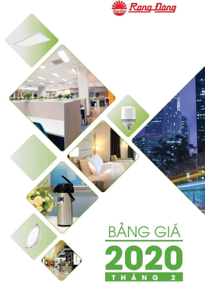 catalogue bang gia den led rang dong
