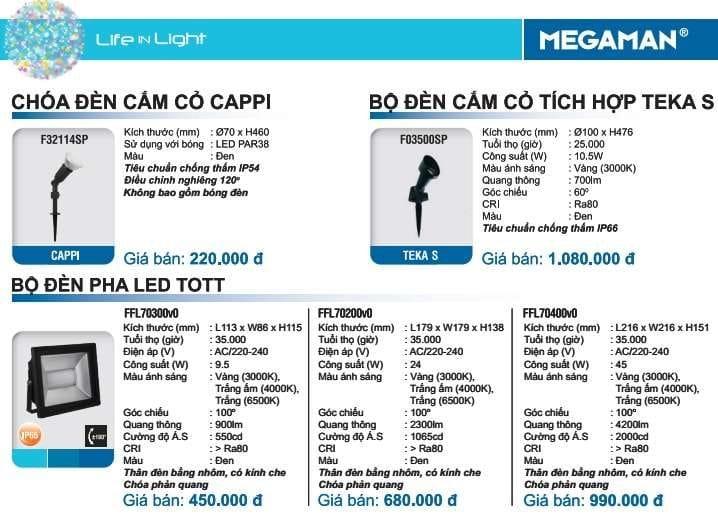 Bang Gia Den Cam Co