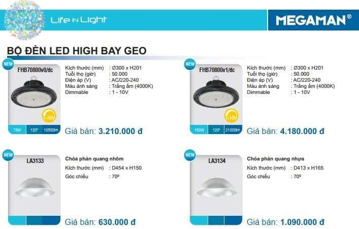 Bang Gia Den Led Highbay Geo