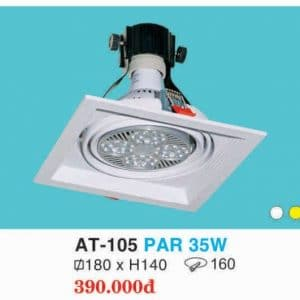 Den Downlight Am Tran Hop Kim Nhom Cao Cap At 105 Par 35w Hufa