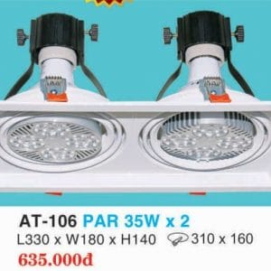 Den Downlight Am Tran Hop Kim Nhom Cao Cap At 106 Par 35w X 2 Hufa