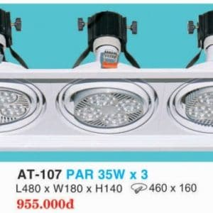 Den Downlight Am Tran Hop Kim Nhom Cao Cap At 107 Par 35w X 3 Hufa