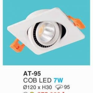 Den Downlight Am Tran Hop Kim Nhom Cao Cap At 95 Cob Led 7w Hufa