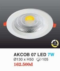 Den Led Am Tran Downlight Akcob 07 Led 7w Hufa