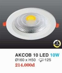 Den Led Am Tran Downlight Akcob 10 Led 10w Hufa