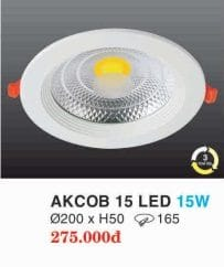 Den Led Am Tran Downlight Akcob 15 Led 15w Hufa