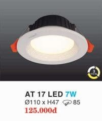 Den Led Am Tran Downlight At 17 Led 7w Hufa