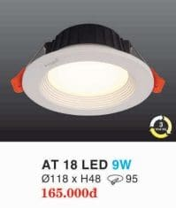 Den Led Am Tran Downlight At 18 Led 9w Hufa