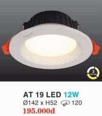 Den Led Am Tran Downlight At 19 Led 12w Hufa
