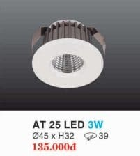 Den Led Downlight Hop Kim Nhom Cao Cap At 25 Led 3w Hufa