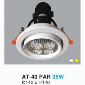 Den Led Downlight Hop Kim Nhom Cao Cap At 40 Par 35w Hufa
