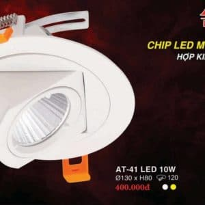 Den Led Downlight Hop Kim Nhom Cao Cap At 41 Led 10w Hufa