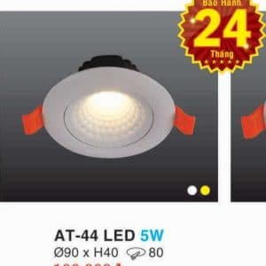 Den Led Downlight Hop Kim Nhom Cao Cap At 44 Led 5w Hufa