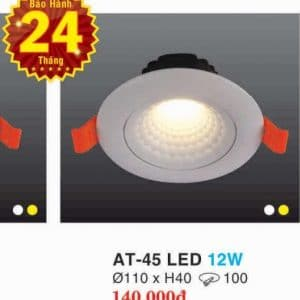 Den Led Downlight Hop Kim Nhom Cao Cap At 45 Led 12w Hufa