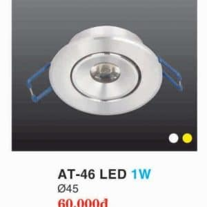 Den Led Downlight Hop Kim Nhom Cao Cap At 46 Led 1w Hufa