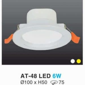 Den Led Downlight Hop Kim Nhom Cao Cap At 48 Led 6w Hufa