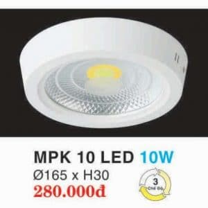 Den Led Panel Lighting Hop Kim Nhom Cao Cap Mpk 10 Led 10w Hufa