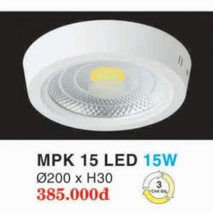 Den Led Panel Lighting Hop Kim Nhom Cao Cap Mpk 15 Led 15w Hufa