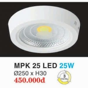 Den Led Panel Lighting Hop Kim Nhom Cao Cap Mpk 25 Led 25w Hufa