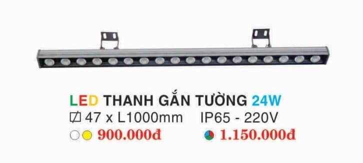 Den Led Thanh Gan Tuong 24w Hufa