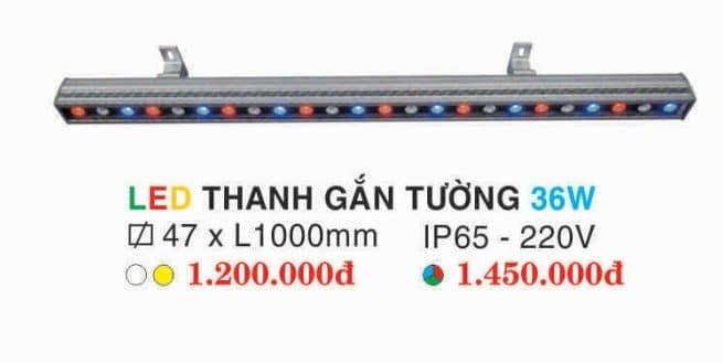 Den Led Thanh Gan Tuong 36w Hufa