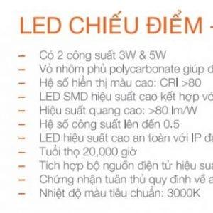 Bo Den Chieu Diem Spotlight 5w