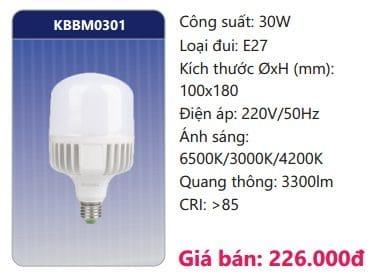 Bong Led Cong Suat Cao Doi Maukbbm0301