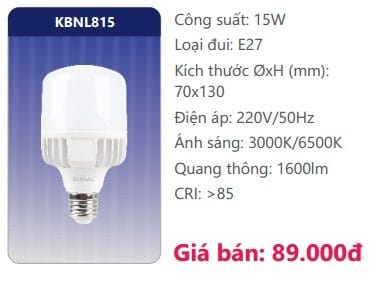 Bong Led Cong Suat Cao Kbnl815