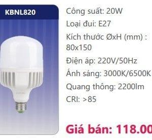 Bong Led Cong Suat Cao Kbnl820
