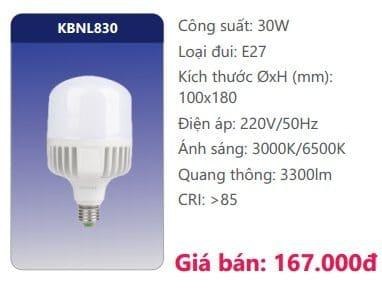 Bong Led Cong Suat Cao Kbnl830