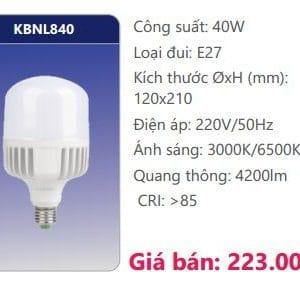Bong Led Cong Suat Cao Kbnl840