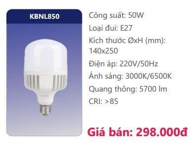Bong Led Cong Suat Cao Kbnl850