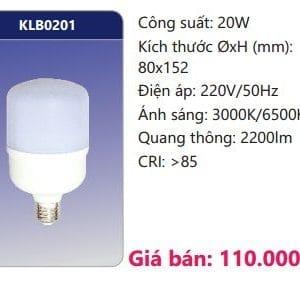 Bong Led Than Nhom Boc Nhua Dan Nhiet Klb0201
