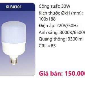 Bong Led Than Nhom Boc Nhua Dan Nhiet Klb0301