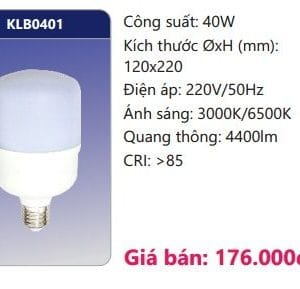 Bong Led Than Nhom Boc Nhua Dan Nhiet Klb0401