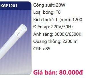 Bong Led Tuyp Thuy Tinhkgp1201