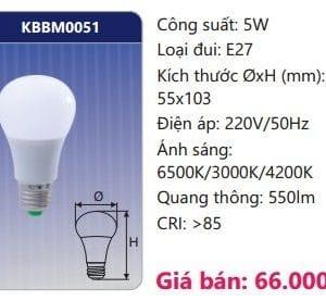 Den Led Bulb Doi Mau Kbbm0051