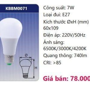 Den Led Bulb Doi Mau Kbbm0071