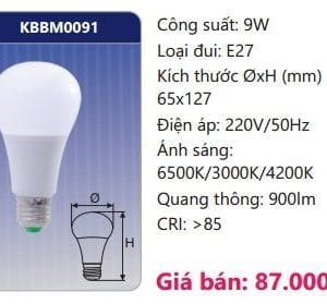 Den Led Bulb Doi Mau Kbbm0091