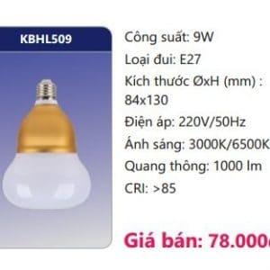 Den Led Bulb Kbhl509 9w