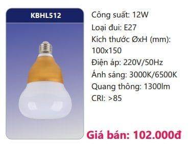 Den Led Bulb Kbhl512 12w