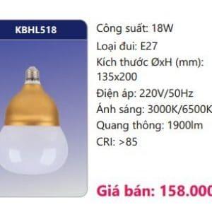 Den Led Bulb Kbhl518 18w
