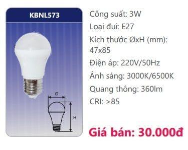 Den Led Bulb Kbnl573 3w