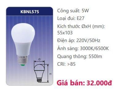 Den Led Bulb Kbnl575 5w