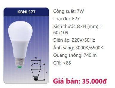 Den Led Bulb Kbnl577 7w