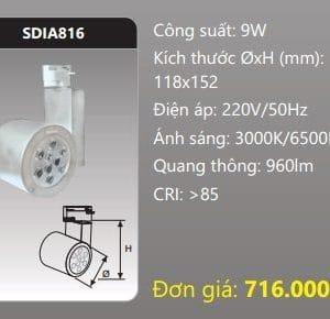 Den Led Chieu Diem Thanh Ray Sdia816