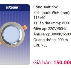 Den Led Downlight Am Tran Trang Trikfx0091