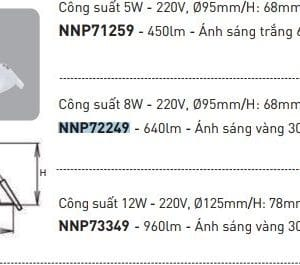 Den Led Downlight Trang