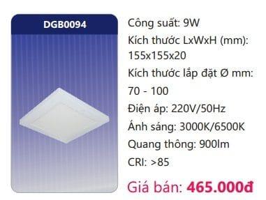 Den Led Panel Da Nang Cam Bien Dgb0094