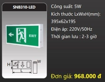 Den Thoat Hiem Den Khan Cap Snb310 Led